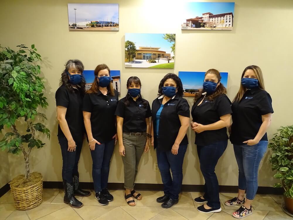 Diversified Interiors employees wearing masks.